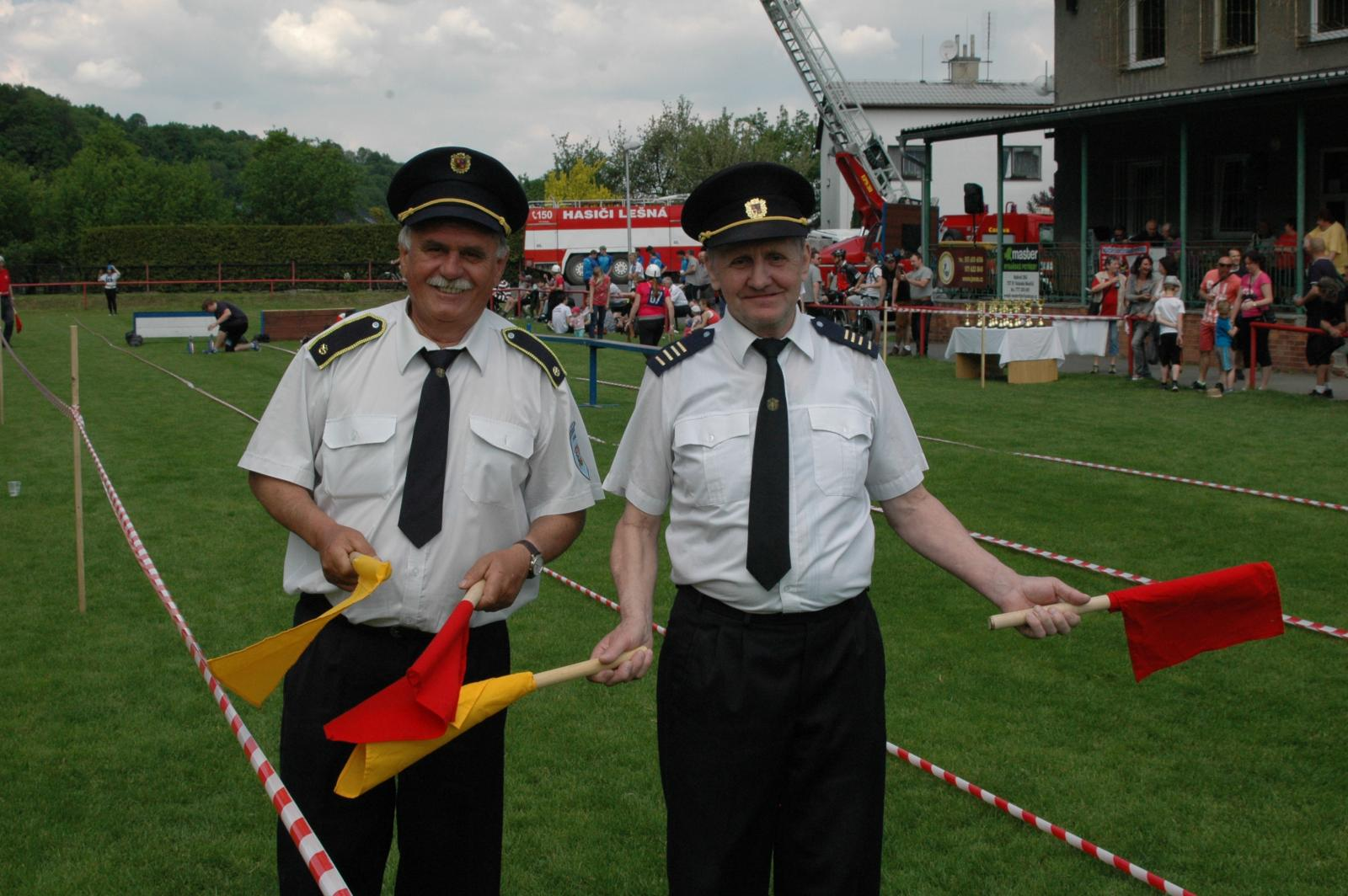 Obvodová soutěž v požárním sportu na hřišti TJ Juřinka