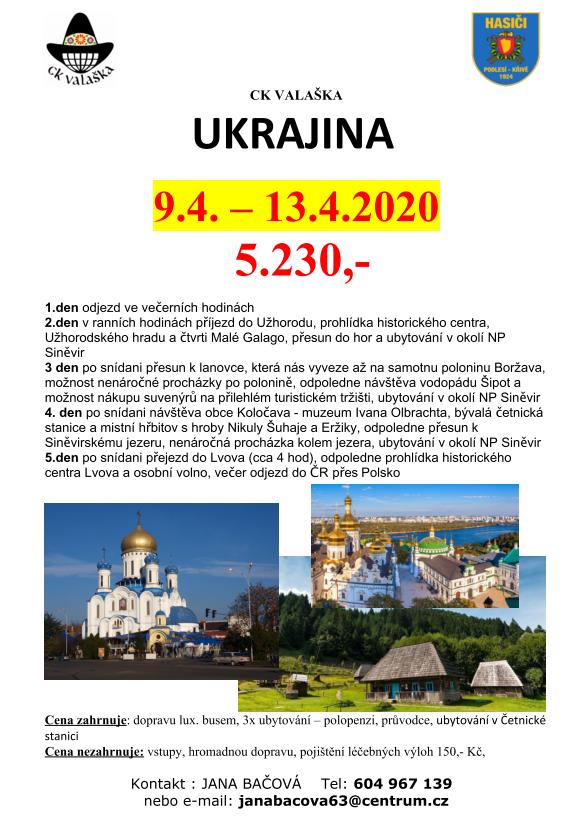 Velikonoční zájezd na Ukrajinu
