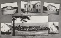 Křivé byla malá, přehledná obec, kde se na počátku 20. století žilo krásně. Ale hořelo tam často! Pohlednice z roku 1941.