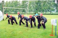 Obvodová soutěž vpožárním sportu vLešné vkvětnu 2011. Napětí před startem.