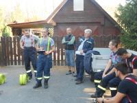 Požár uskladněného dřeva - cvičení